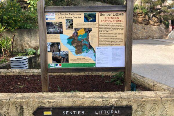panneau_depart_sentier_du_littoral_ port_de_la_madrague