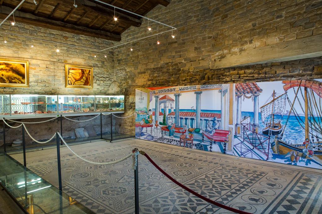 Vue salle musée de Tauroentum