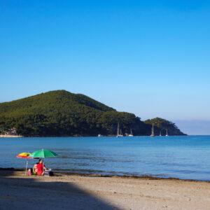 Un lundi matin sur la plage des Lecques